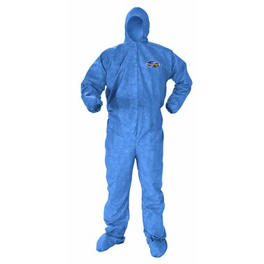 KC A60  Disposable Coverall w/ Zipper Front, Elastic Back, Wrists, Ankles, Hood & Boots