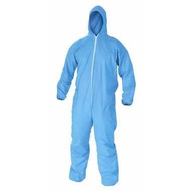 KC A65 Flame Resistant Disposable Coverall w/ Zipper Front, Elastic Wrists, Ankles & Hood