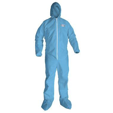 KC A65 Flame Resistant Disposable Coverall w/ Zipper Front, Elastic Wrists, Ankles, Hood &