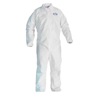 KC A40 Disposable Coverall w/ Zipper Front, Elastic Wrists & Ankles