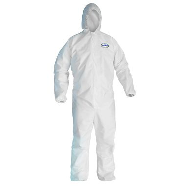 KC A40 Disposable Coverall w/ Zipper Front, Elastic Wrists & Ankles and Hood