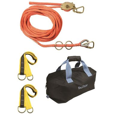 FallTech 100' PSR Temporary Horizontal Lifeline 2 Person Kit