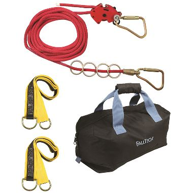 FallTech 50' Checkline Temporary Horizontal Lifeline 4 Person Kit