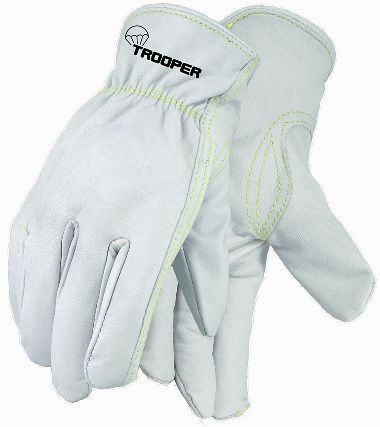 Trooper Goatskin Drivers Gloves, 12 Pairs/Package, Sewn with Cut Resistant Thread