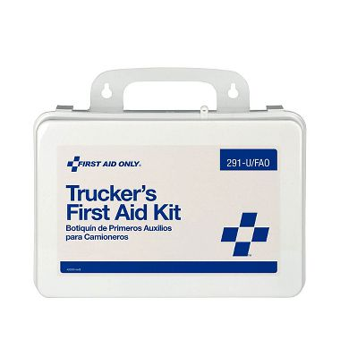 Trucker's First Aid Kit - 16 Unit Plastic Case