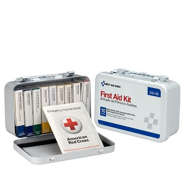 Unitized First Aid Kit  for 10 People,  ANSI-Compliant, 10 Unit Metal Case