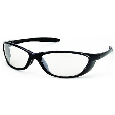 Spyder Sport Safety Glasses Black Gloss Frame w/ Clear Lens