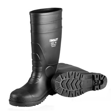 "Tingley 31251 Pilot General Purpose PVC 15"" Boots Steel Toe Cleated Outsole"