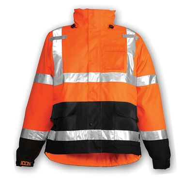 Tingley Icon™ Class 3 Jacket w/ D-Ring Access, Orange w/ Black Trim