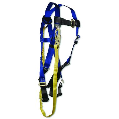 FallTech Contractor Harness / Looped Shock Absorbing Lanyard Combo