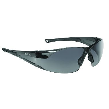 Bolle Rush Smoke Safety Glasses w/ Anti-Scratch & Anti-Fog Lens
