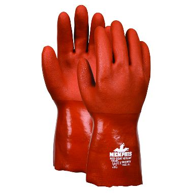 "Memphis Red Coat 12"" PVC Gloves, Made With DuPont™ Kevlar® Fibers"