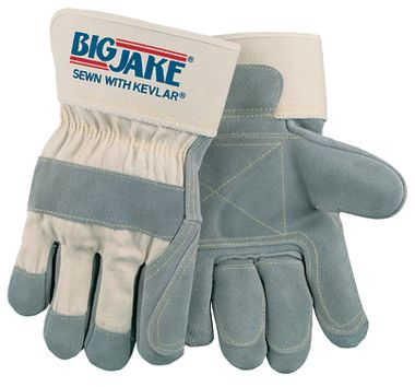 Big Jake® Gloves Double Leather Palm Gloves w/ Safety Cuffs