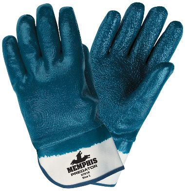 Predator® Glove Extra Rough Nitrile Coating Fully Coated w/ Safety Cuffs