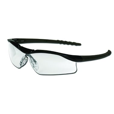 Dallas® Safety Glasses, Black Frame, Clear Lens