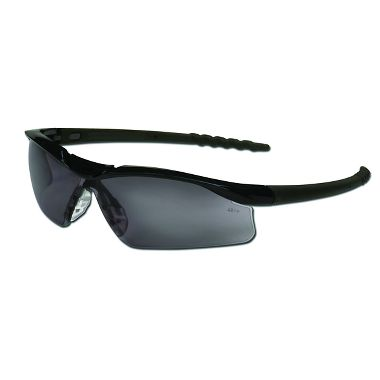 Dallas® Safety Glasses, Black Frame, Gray Anti-fog Lens