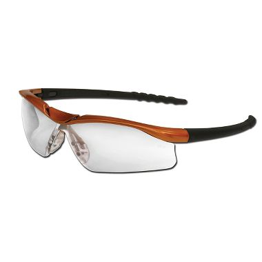 Dallas® Safety Glasses Nuclear Orange Frame, Clear Anti-Fog Lens