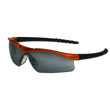 Dallas® Safety Glasses Nuclear Orange Frame, Gray Anti-Fog Lens