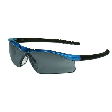 Dallas® Safety Glasses, Blue Metallic Frame, Gray Anti-fog Lens