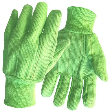 Cotton High Visibility Double Palm Gloves