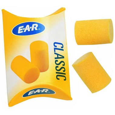 3M Classic Style Earplugs, Uncorded