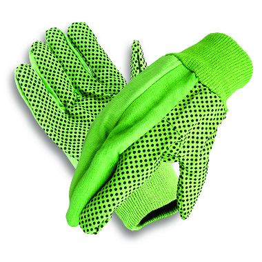 Cotton/Polyester Hi Viz w/Dotted Palm Gloves