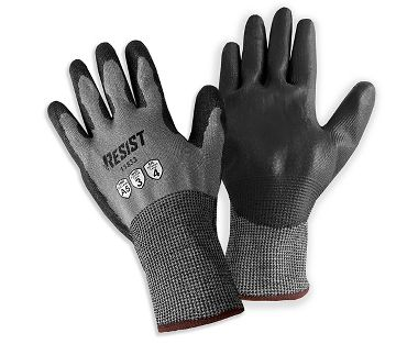 Galeton® RESIST™ ANSI A5 Cut Resistant 18 Gauge Knit Gloves with Polyurethane Palm Coating
