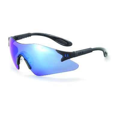Helium  Safety Glasses w/ Blue Mirror Lens