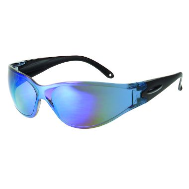 Brace  Safety Glasses w/ Blue Mirror Lens