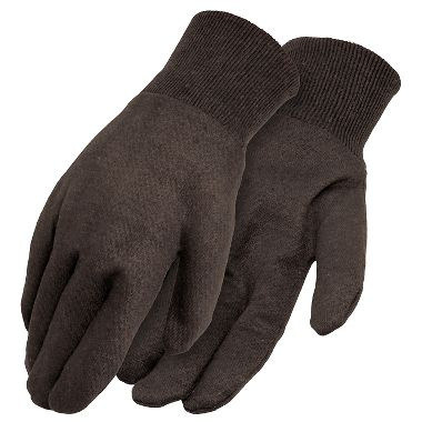 Reversible Brown Jersey Gloves, Men's 9 oz.