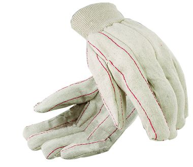 Cotton Double Palm Gloves, Knit Wrist