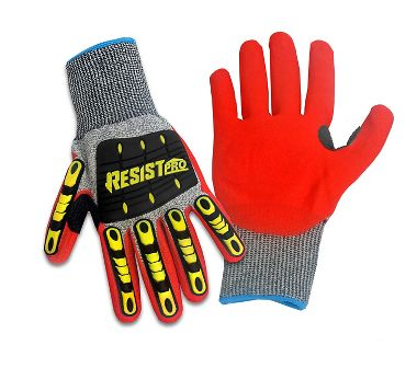 Galeton® Hi Viz RESIST™ PRO ANSI A5 Cut and Impact Resistant Knit Gloves