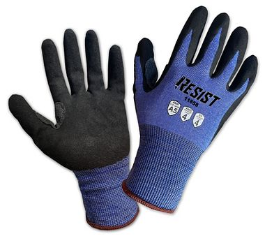 Galeton RESIST™ Cut Resistant 18 Gauge Knit Sandy Nitrile Palm Coated Gloves