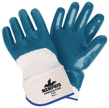 Predator® Gloves with Nitrile Coated Palms, Safety Cuffs