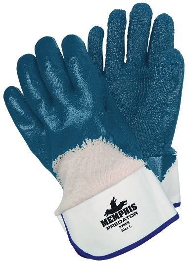 Predator® Gloves with Extra Rough  Nitrile Coated Palms, Safety Cuffs