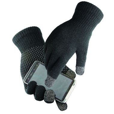 Touchscreen Knit  Gloves with Dots, 12 Pairs/Package