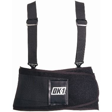OK-Univ-Black Back Support Belt