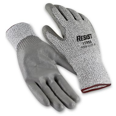 Galeton RESIST™ Cut Resistant Knit Gloves with Polyurethane Palm Coating