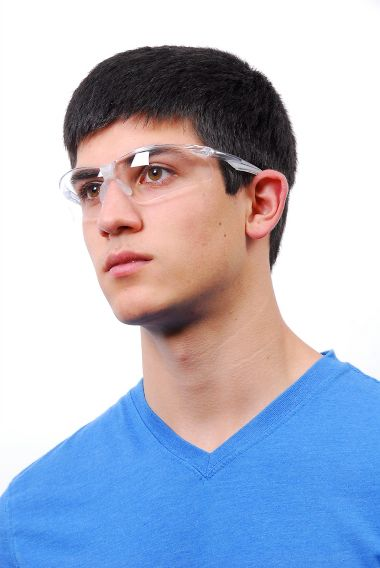 Rivet Safety Glasses, Fog Free Clear Lens