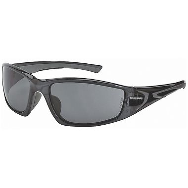 Crossfire® RPG™ Safety Glasses, Crystal Black Frame, Smoke Lens