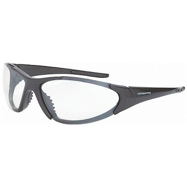 Crossfire® CORE™ Safety Glasses, Shiny Pearl Gray Frame, Clear Anti-Fog Lens