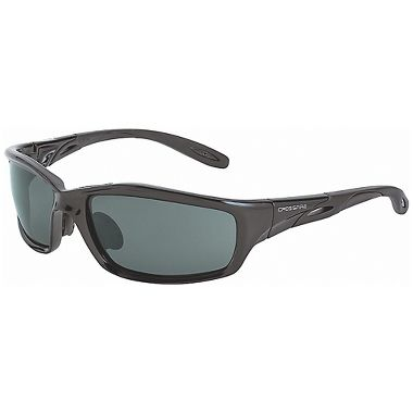 Crossfire® INFINITY™ Safety Glasses, Black Crystal Frame, Smoke Lens