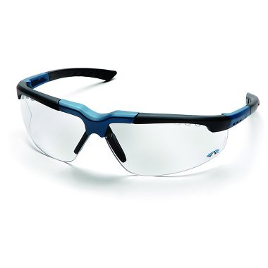 Pyramex™ Reatta Safety Glasses, Black/Blue Frame, Clear Lens
