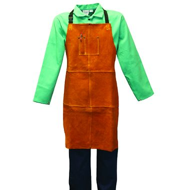 "Stanco Gold Band Leather Welder's Apron, 36"" Long"