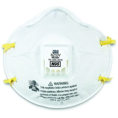 3M™ 8210V  N95 Respirator with Cool Flow™ Valve