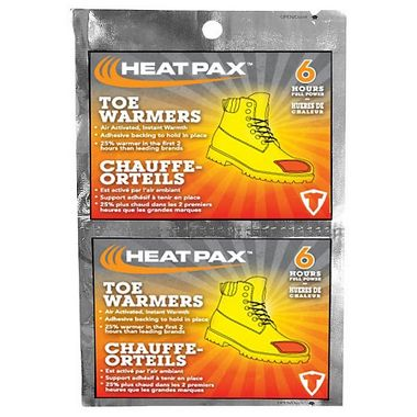 HeatPax™ Air Activated Adhesive Toe Warmers, 10 Pairs/Pack