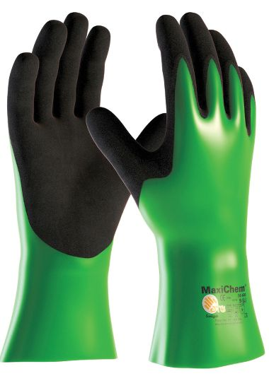 ATG® MaxiChem® Double Nitrile Coated Gauntlet Gloves, 3 Pr/Pkg