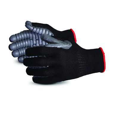 Vibrastop Anti-Vibration Gloves, Black/Gray