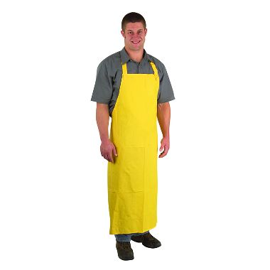 Yellow .35mm PVC/Polyester Apron, 6/Package
