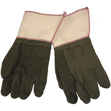 Flame Retardant 3-Ply Hot Mill Gloves, Gauntlet Cuff